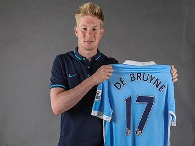 PAY Kevin De Bruyne signs for Manchester City